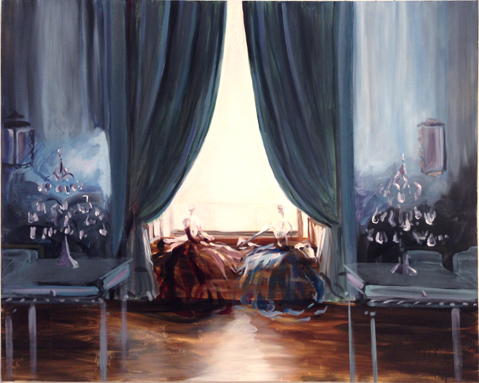 Blue Drawing Room 32 x 40 in. Oil on Linen 2014 Kimberly Brooks