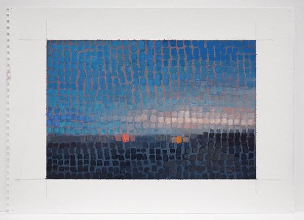 MOSAIC: LANDSCAPE W/ 2 LIGHTS, 2015