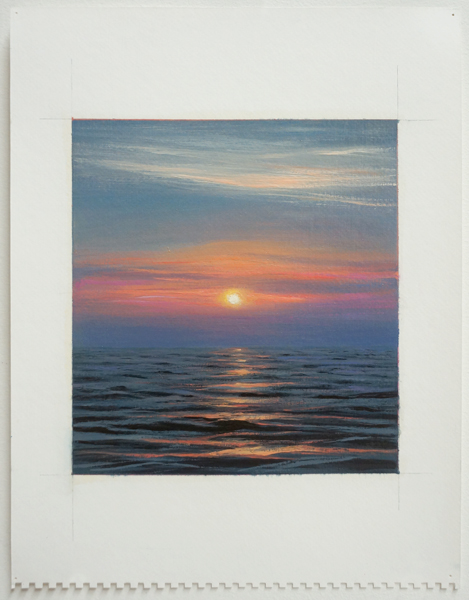 SUNRISE OVER OPEN WATER, 2011