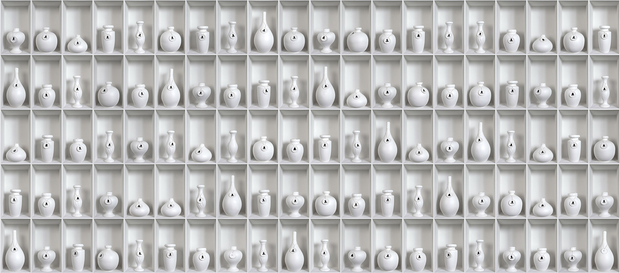 RUBY RUMIE:  HALITO DIVINO - WHITE VESSELS (L) , 2013, photographs mounted on foam board, ed.5,74.8 x 173.23 in. 190 x 440 cm., each panel: 74.8 x 43.31 in. 190 x 110 cm.