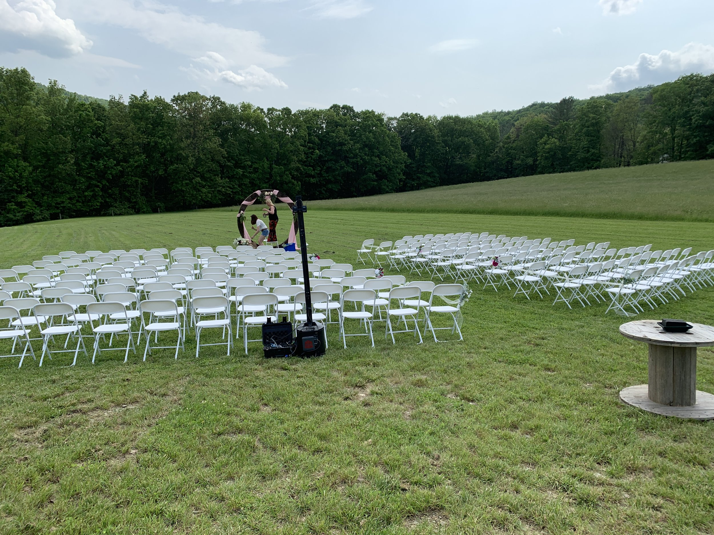 Ceremony setup, before the fun begins!