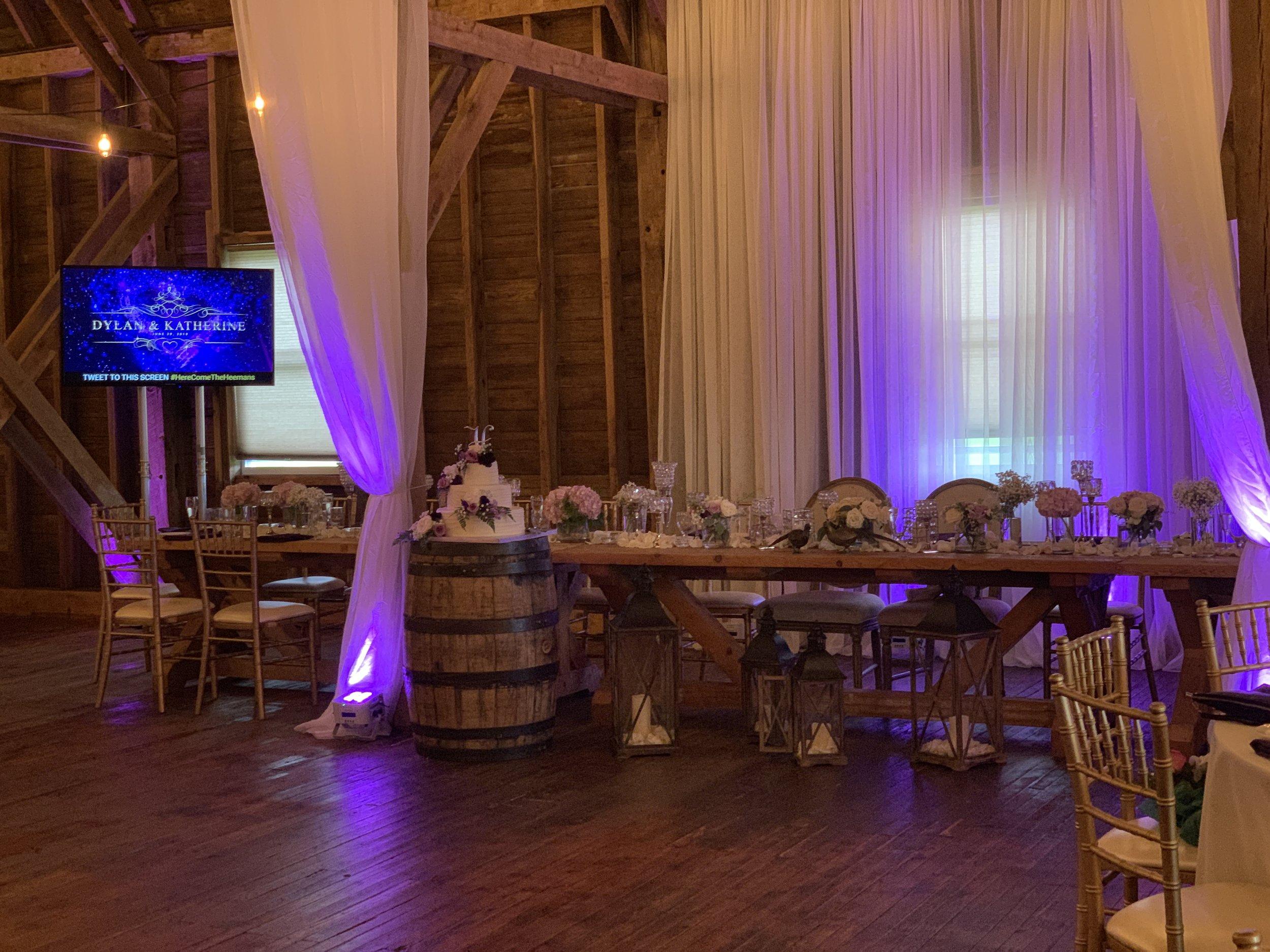 binghamton_ithaca_syracuse_elmira_cny_wedding_dj_engaged_entertainment_dylan_katherine_head_table_farm_at_cottrell_lake