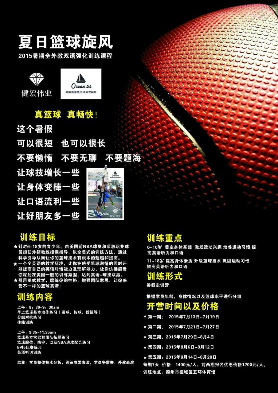 "Ocean 24 SE ""2015 American Basketball Academy"" Poster"