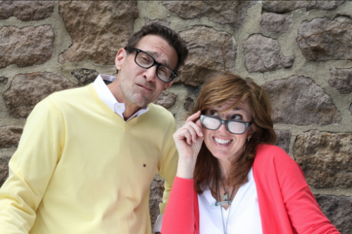 John and Melissa - just another day building brands:-)