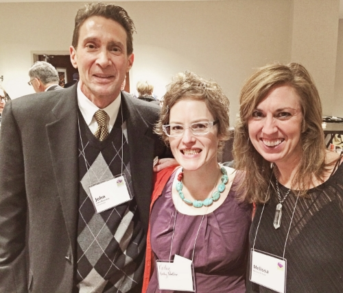 John Mavrakis, Kathy Weller and Melissa Schulz at the Greeting Card Association Event in Atlanta, January 2015.
