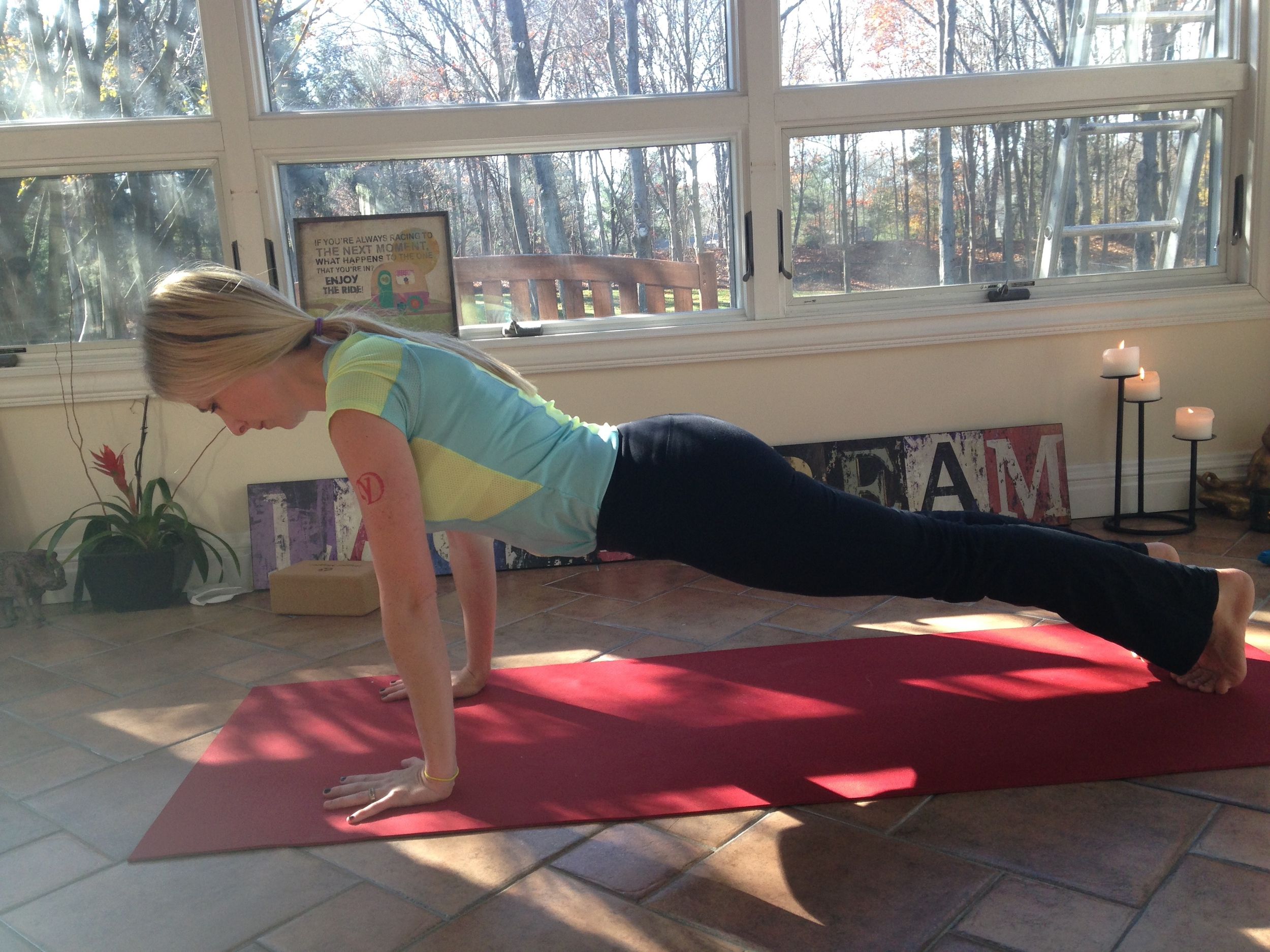 Stacy DEFIES the limitations of her body! New to yoga, she has already noticed her increased strength and flexibility!