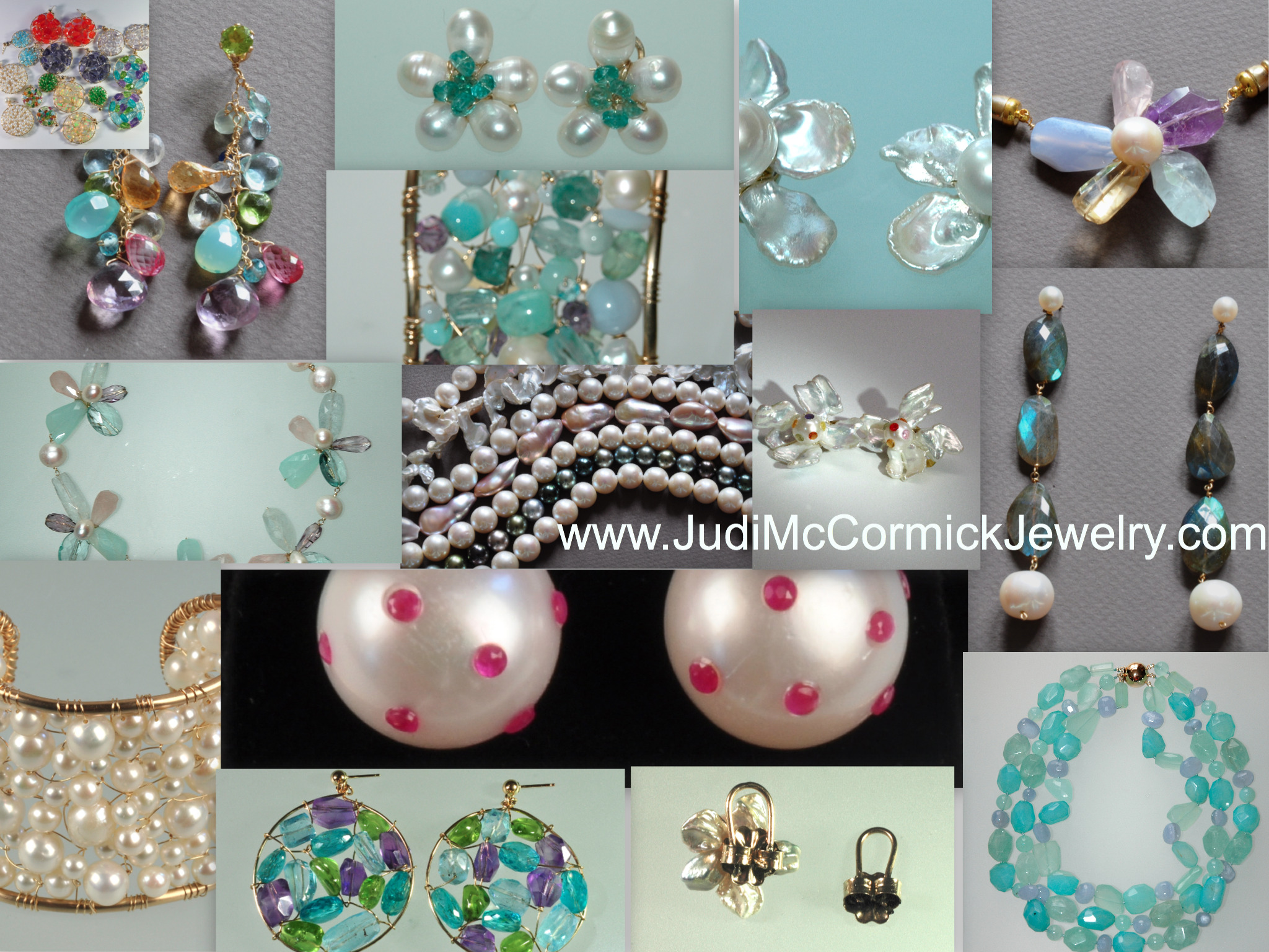 collage of jewelry