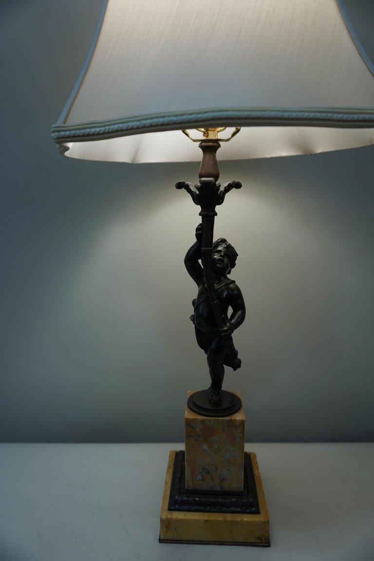 Picture of: French 19th Century Bronze Cherub Sculpture Table Lamp Lu913612731701 Artisan Lamp