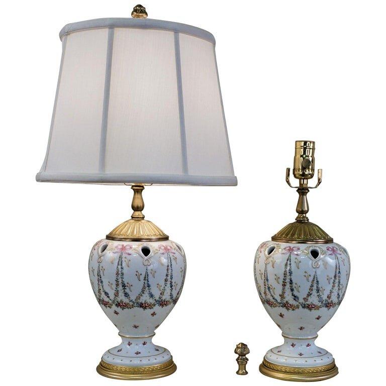 Pair Of Sèvres Porcelain Table Lamps, Porcelain Table Lamp