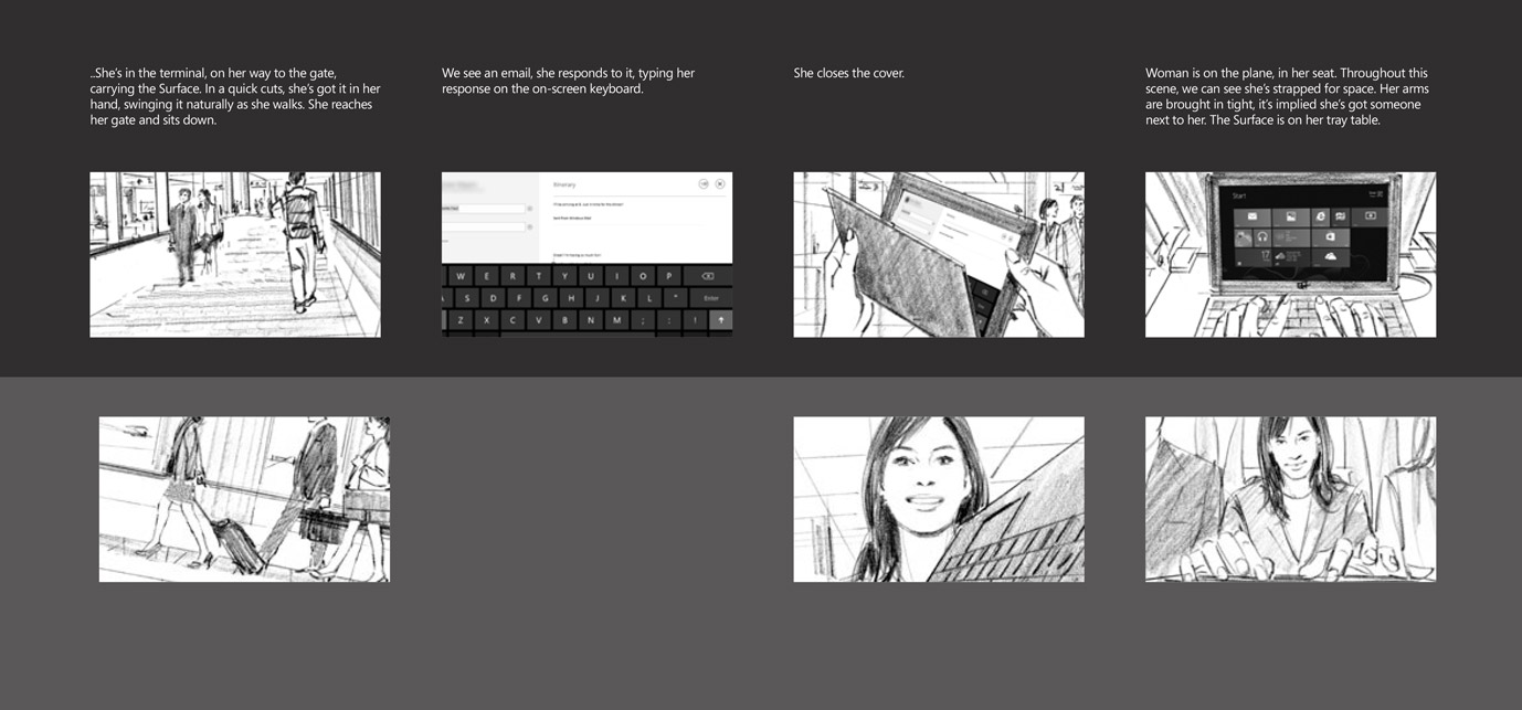 Dual perspective story boards