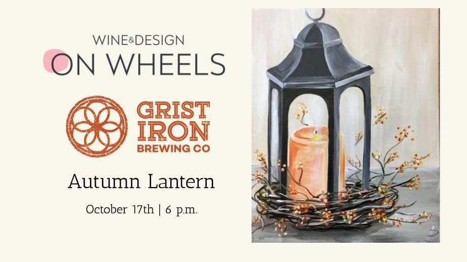 Wine & Design on Wheels_Autumn Lantern Canvas