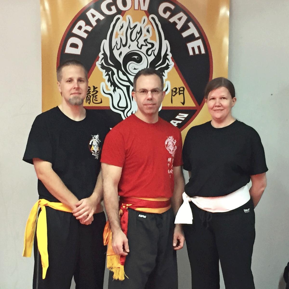Kreg Howk, Shifu Eric LEcuyer and Lisa Vigeant
