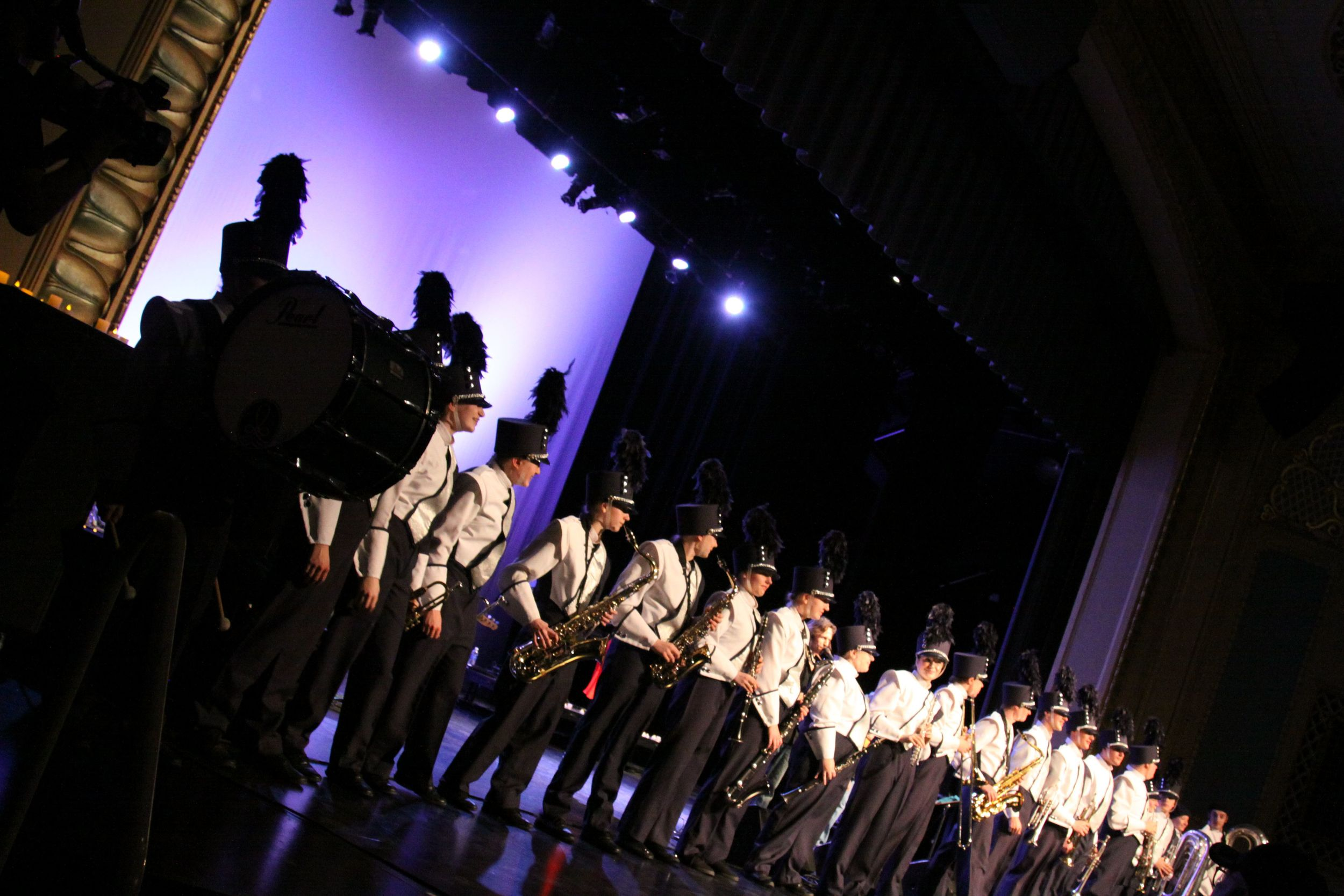 """The St. Cloud All-City Marching Band joined """"Rumours and Dreams"""" for """"TUSK"""" at """"Gold Dust Gala"""" event at The Paramount Theater in St. Cloud, MN. October 2013."""