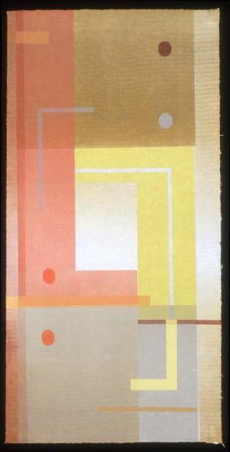 PEGGY BADENHAUSEN  Dancing Ground 5  monotype, 37 x 18 inches