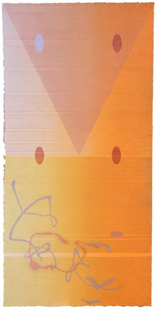 PEGGY BADENHAUSEN  Rondeau 3  monotype, 37 x 18 inches