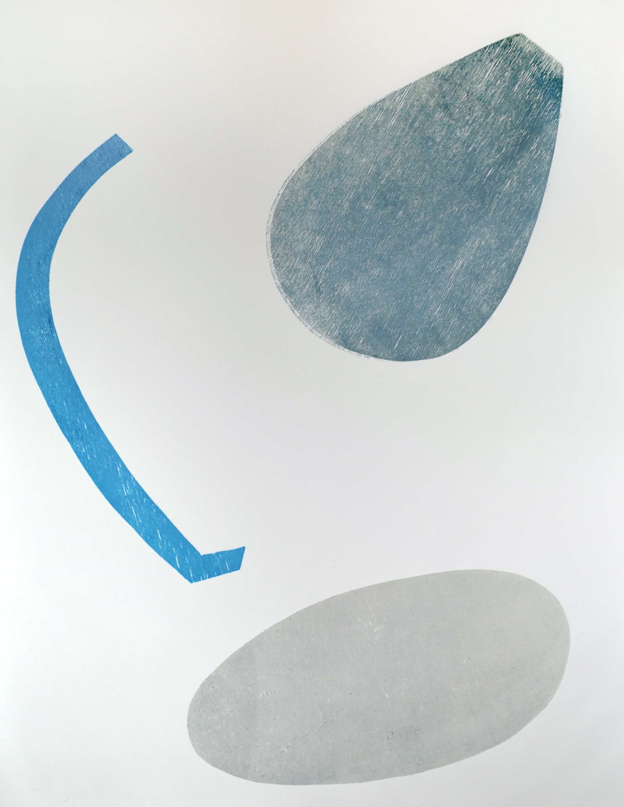 DANETTE ENGLISH  Vase Series #19  2012 relief monoprint on paper, 30 x 22 inches