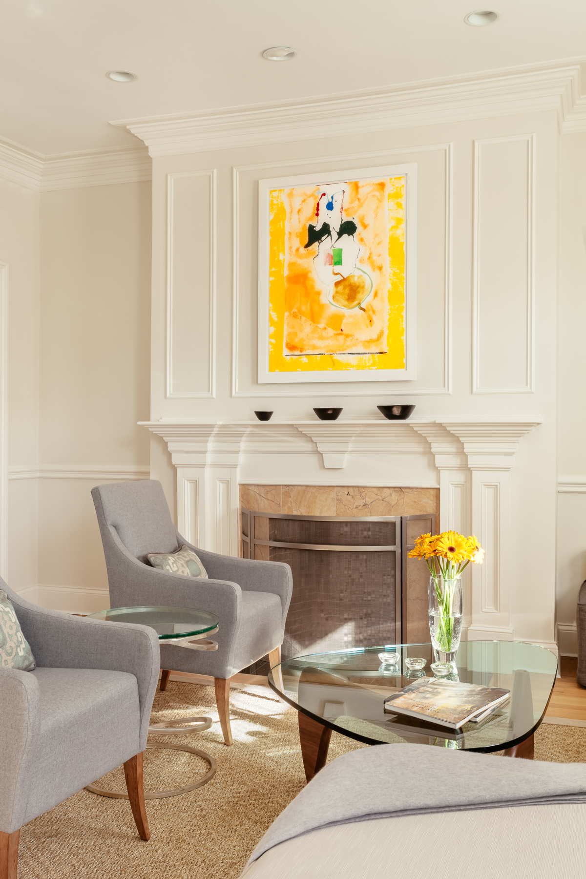 Living room, Brookline residence Print by HELEN FRANKENTHALER