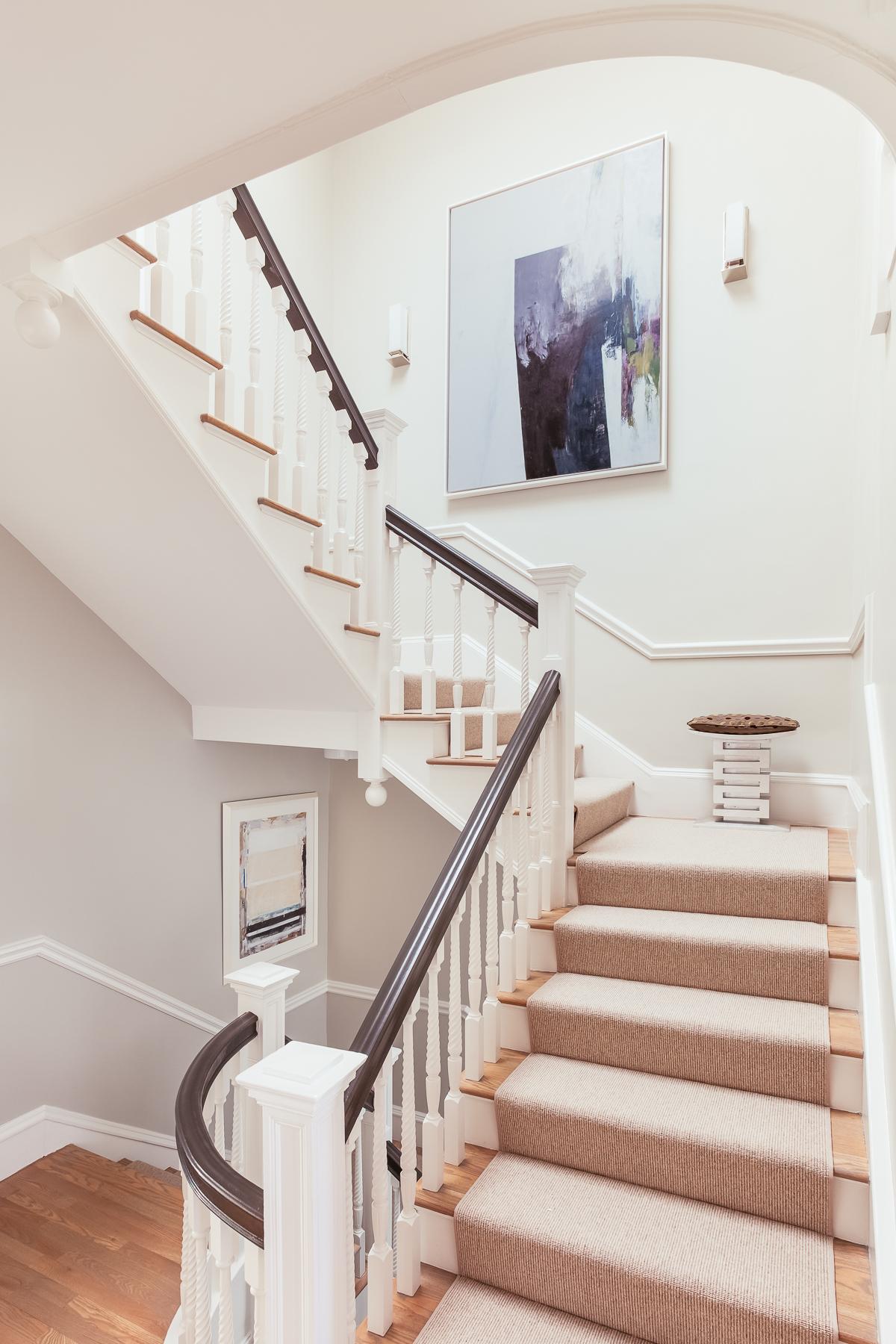 Stairway, Brookline residence Painting by WILFREDO CHIESA