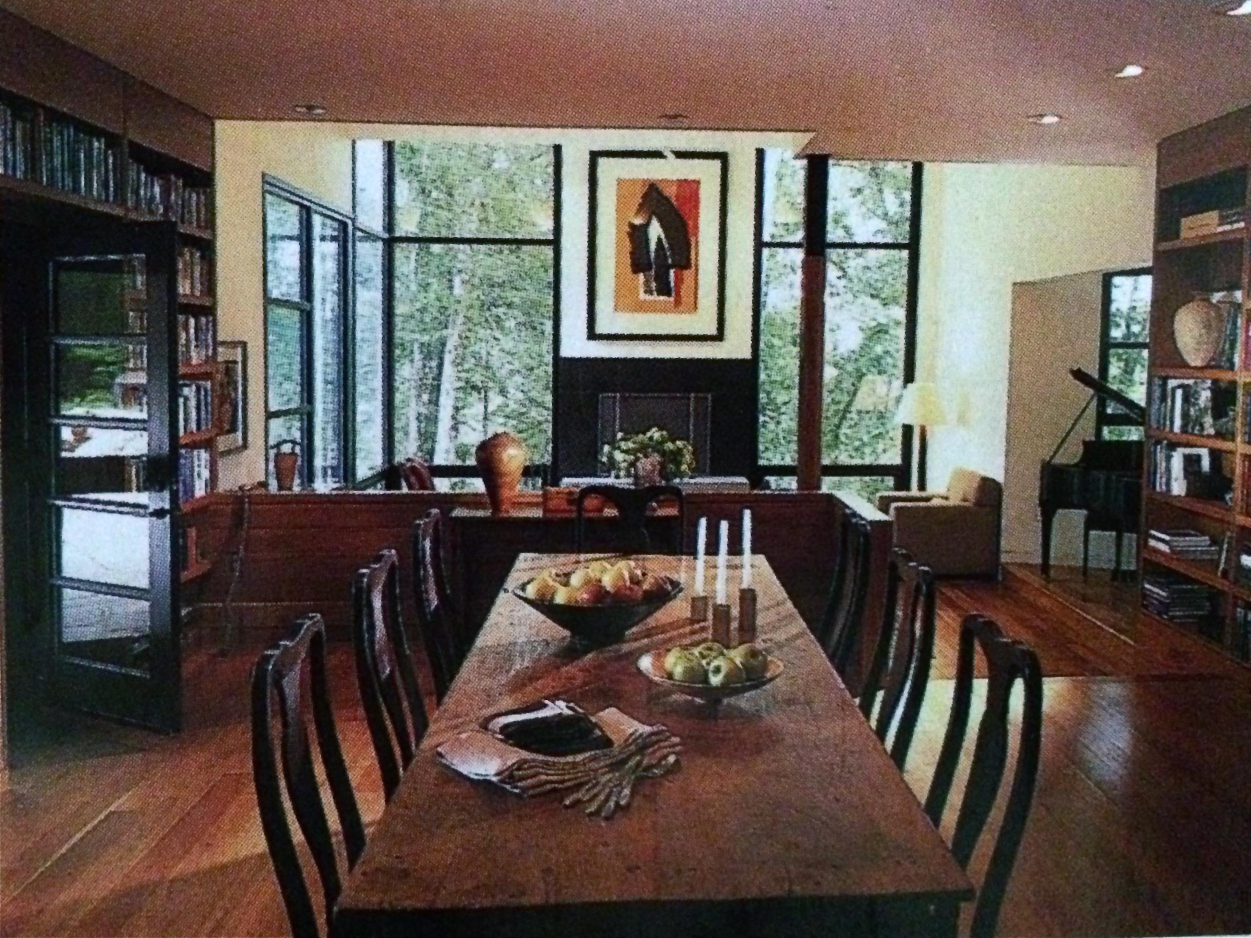 Dining room, West Virginia residence