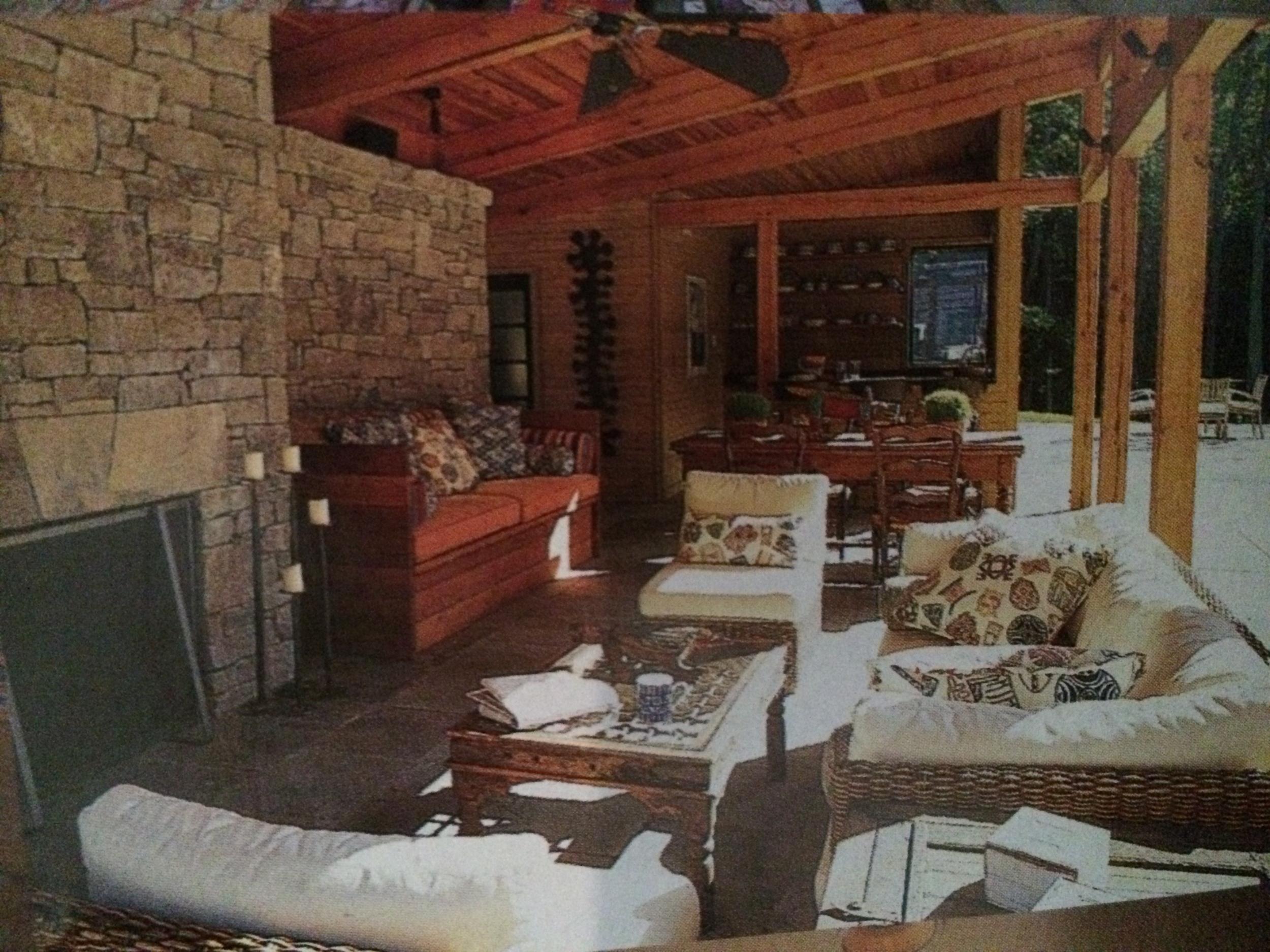 Outdoor living room, West Virginia residence