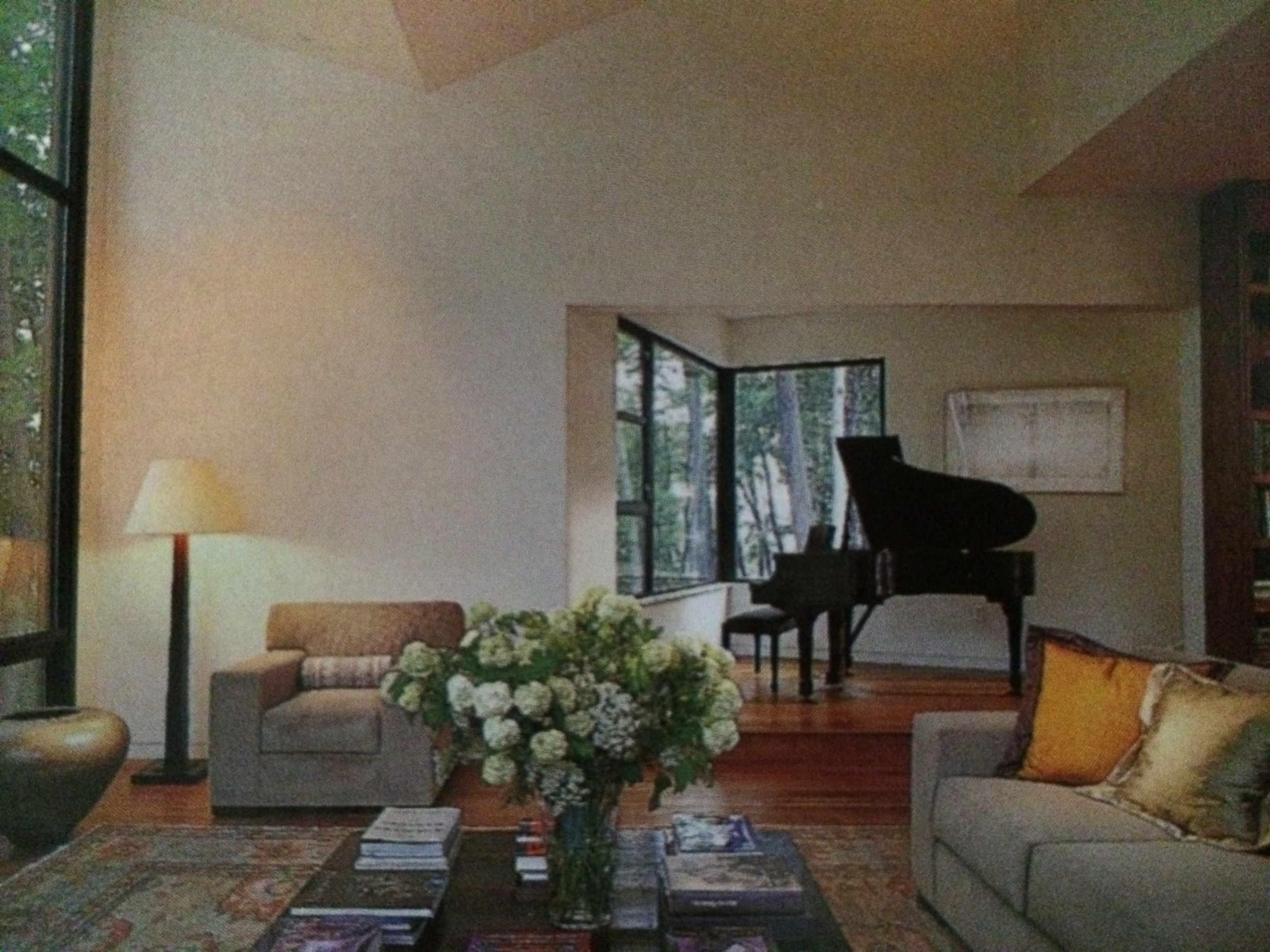 Living room, West Virginia residence