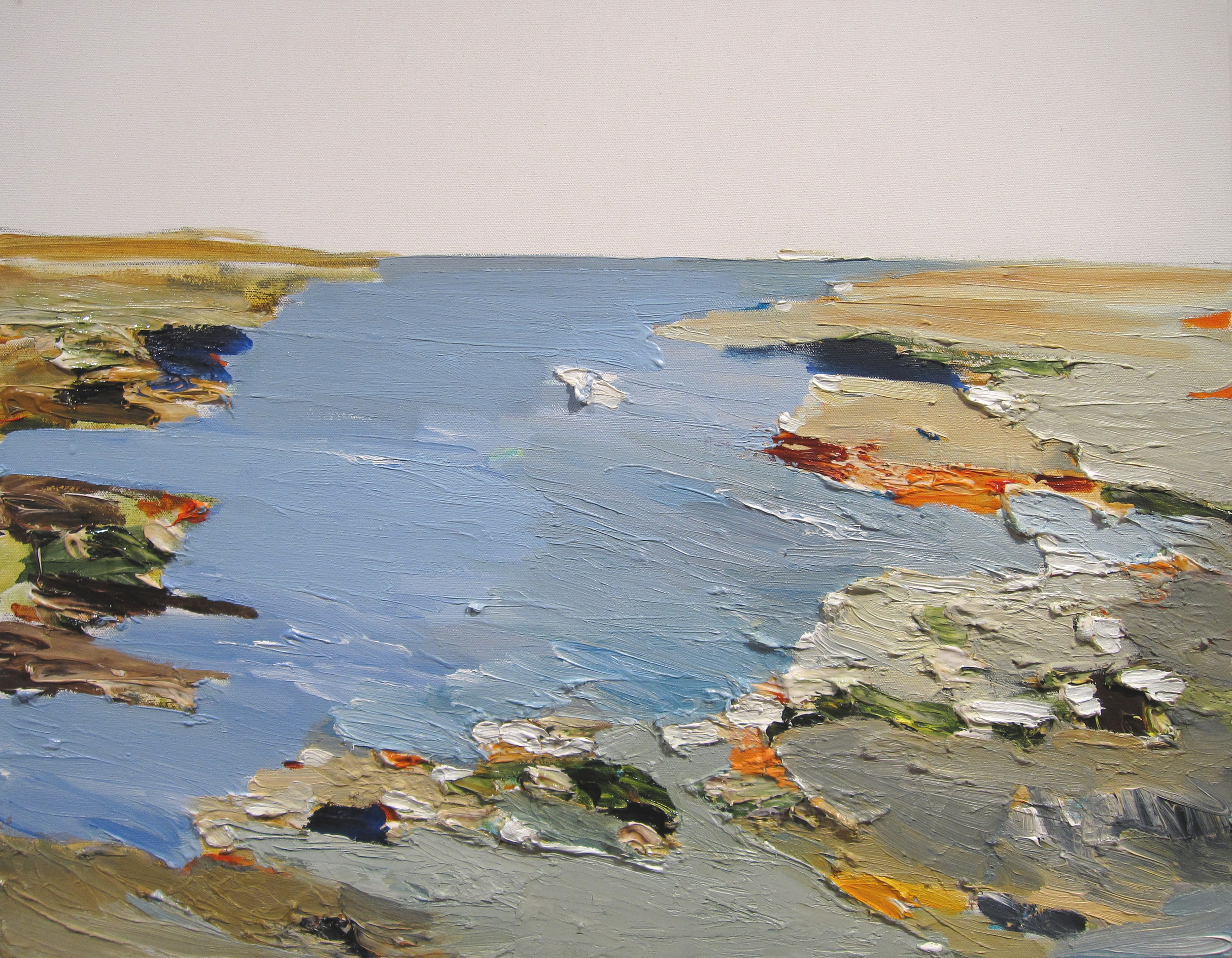 JOHN VINTON   Machias River at Frenchmens Bay  oil and acrylic on canvas, 22 x 28 inches