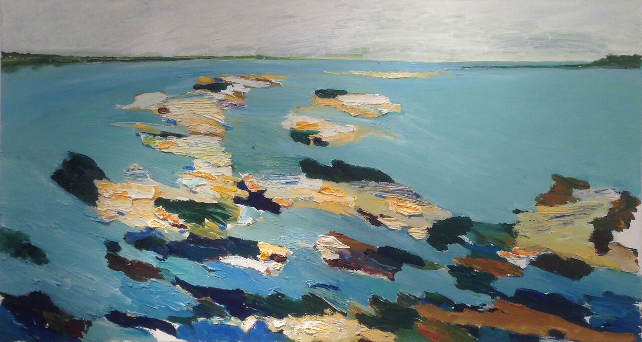 JOHN VINTON   Coolidge Point  oil and acrylic on canvas, 36 x 66 inches