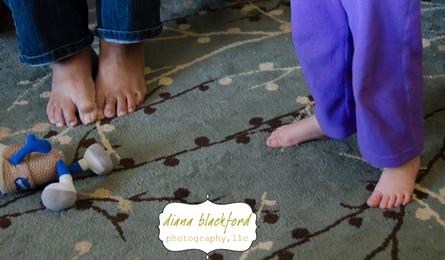 Eva is just like her grandma - she loves to be barefoot.