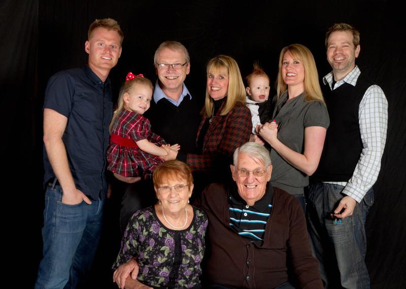 Our children, grandchildren and my parents.