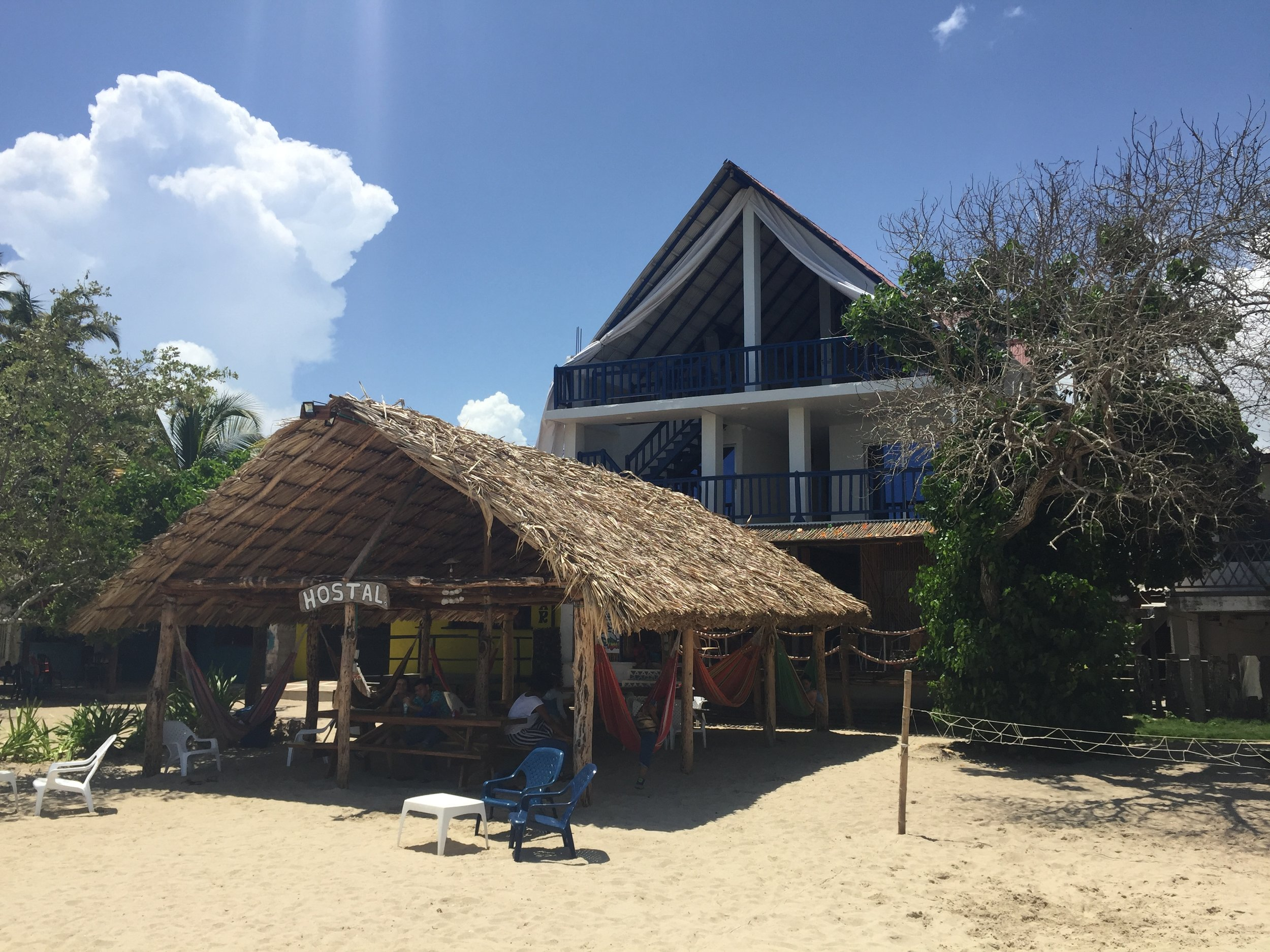In Rincon, we will stay in private rooms at the simple oceanfront Beach Hostel