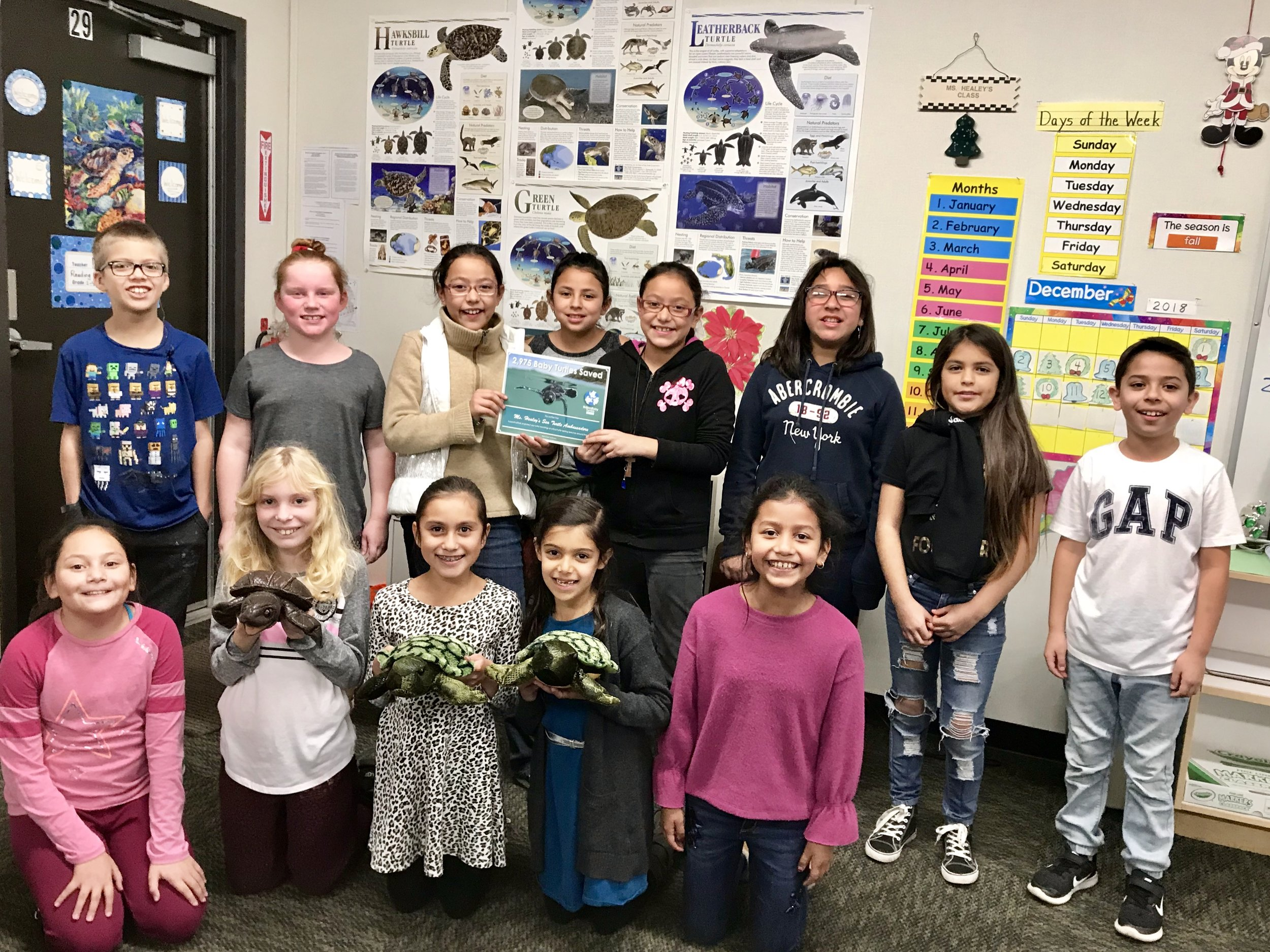 Jefferson Elementary (CA) Sea Turtle Ambassadors