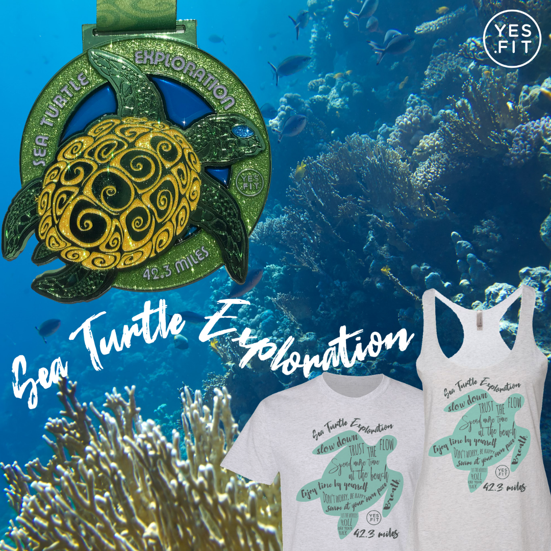 Run, walk, cycle or swim your way through a Sea Turtle Exploration virtual journey . Portion of the proceeds are donated to save baby turtles.