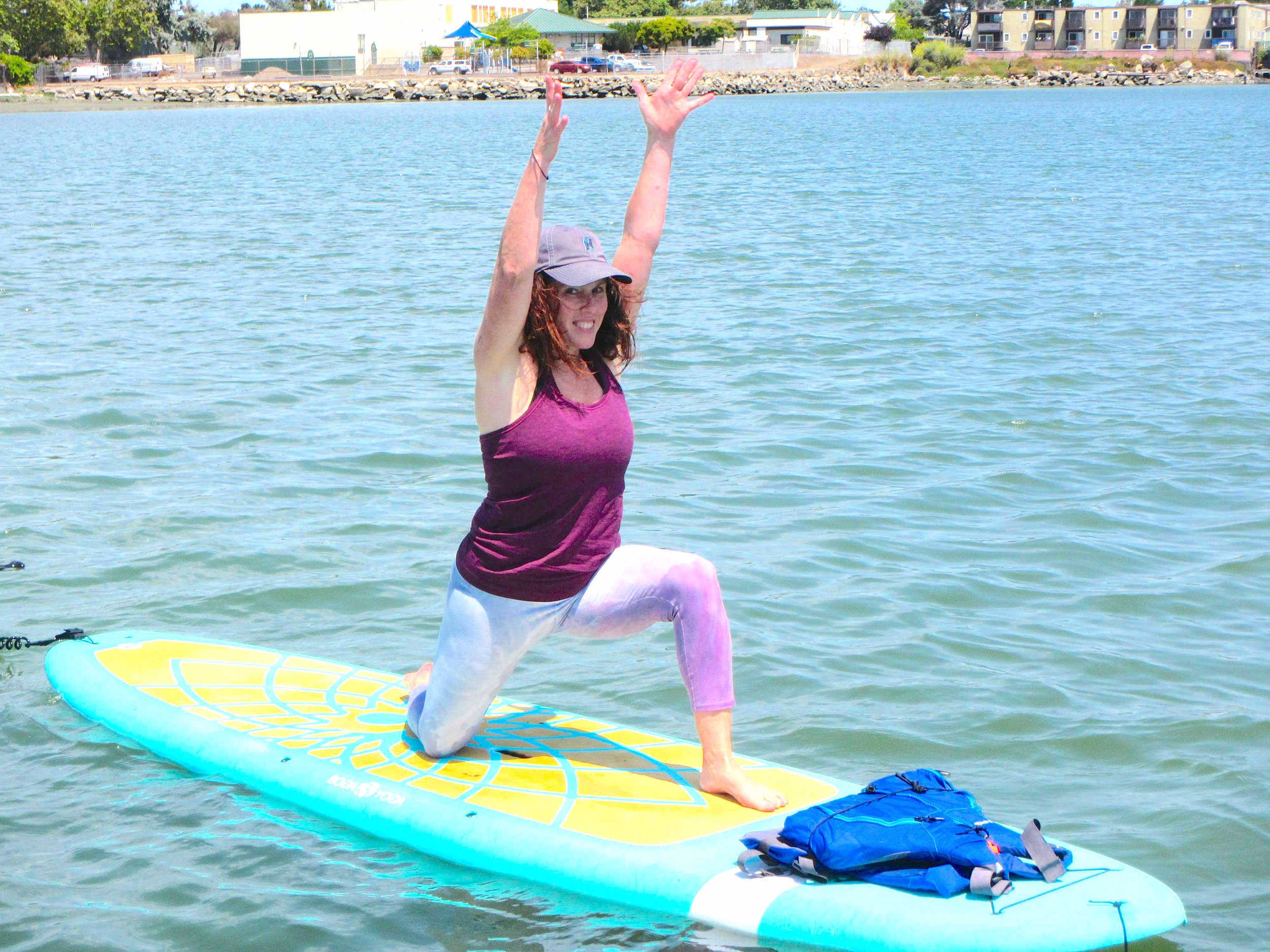 SUP yoga modified crescent lunge.JPG