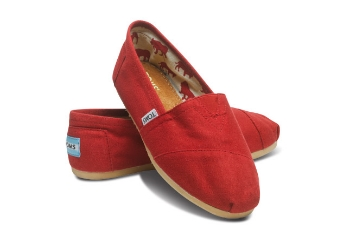 Red Toms shoes