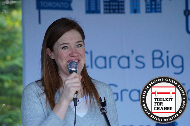 A high-profile spokesperson, such as Olympian Clara Hughes, pictured, can help drive home your message. Flickr photo: by Beverley Carson-Bader.