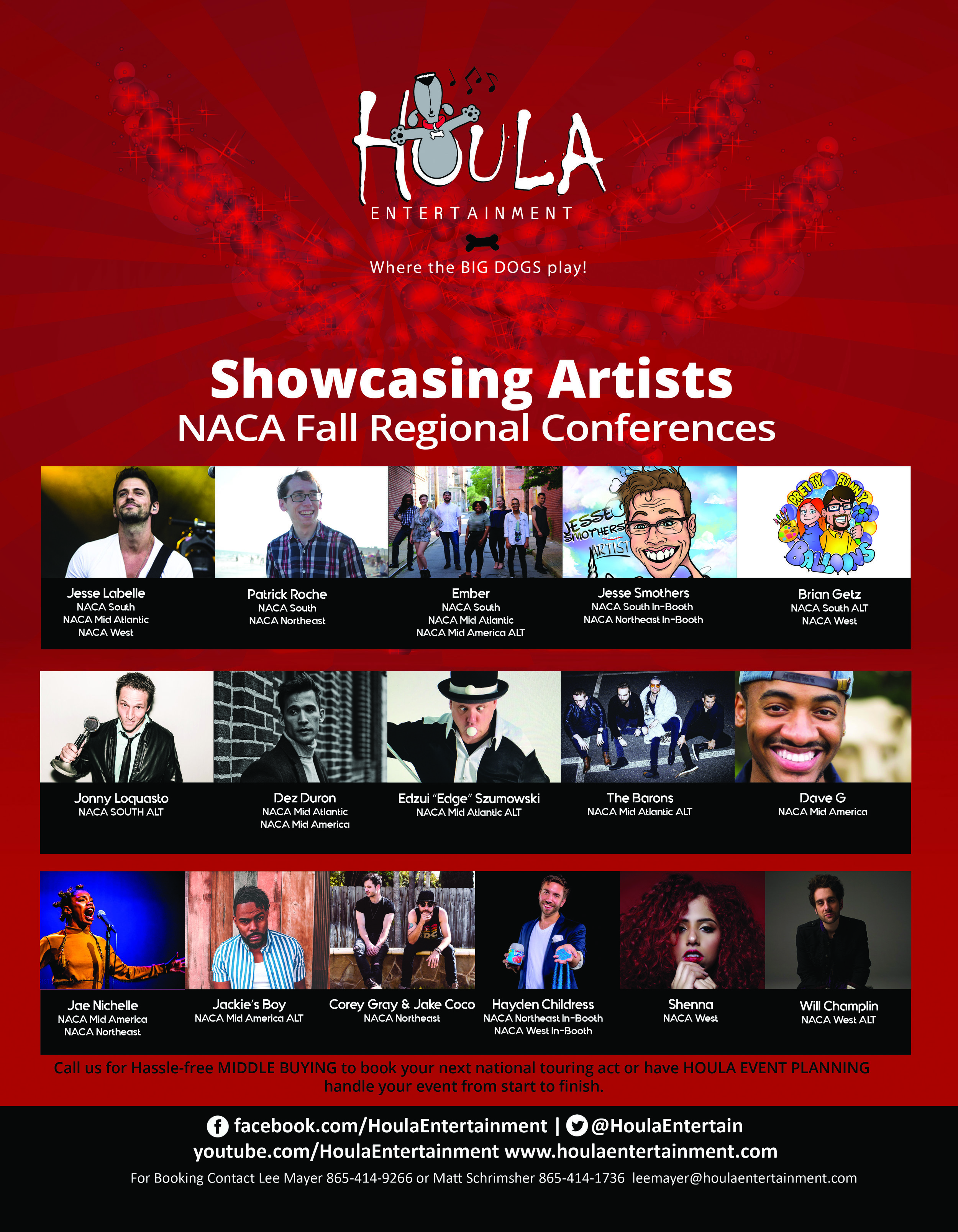 NACA 2018 Fall Showcasing Artists
