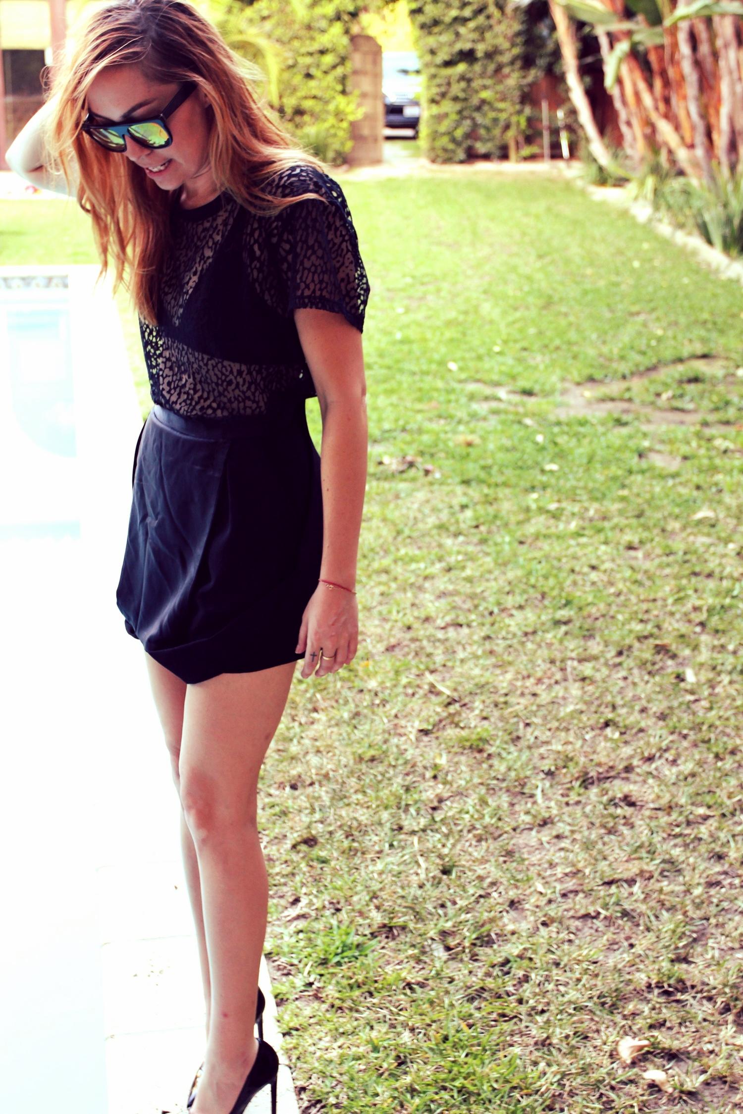 Shirt + Shoes - Saint Laurent   Overalls - Topshop    photos by Sarah Hardcastle