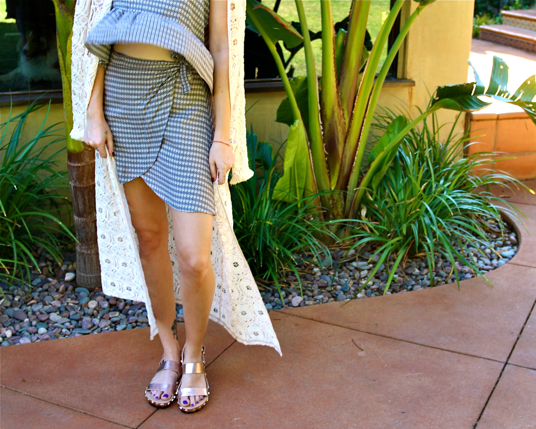 Top + Skirt - BCBGeneration | Shoes - Rebecca Minkoff | Shades - Burberry || photos by Sarah Hardcastle