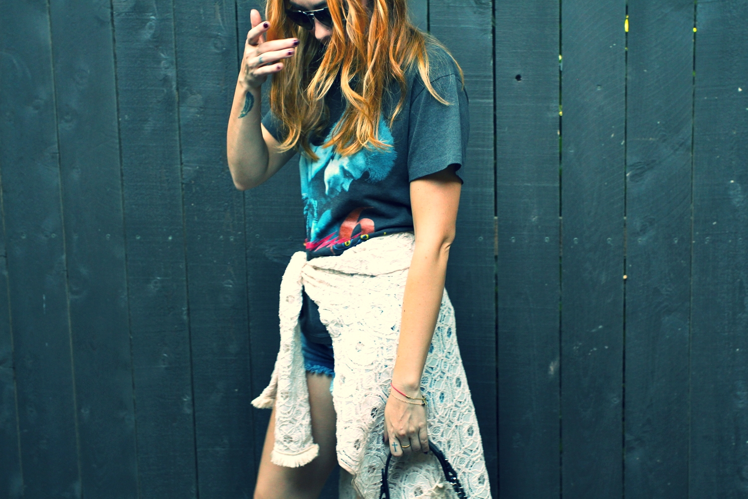 T-Shirt - vintage | Shorts - Dittos | Jacket -    | photos by Sarah Hardcastle