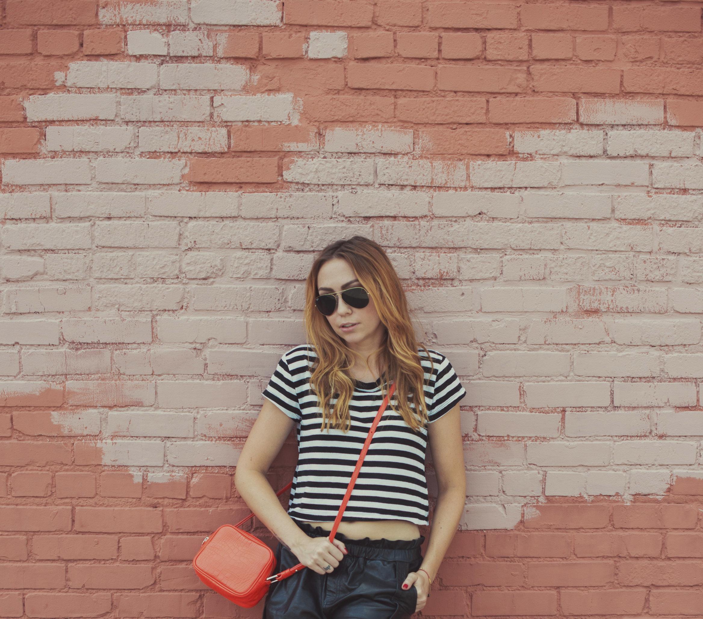 Tshirt - NastyGal | Shorts - Rebecca Minkoff | Bag - RoviMoss | Sneaks - Saint Laurent || photos by Blythe Thomas