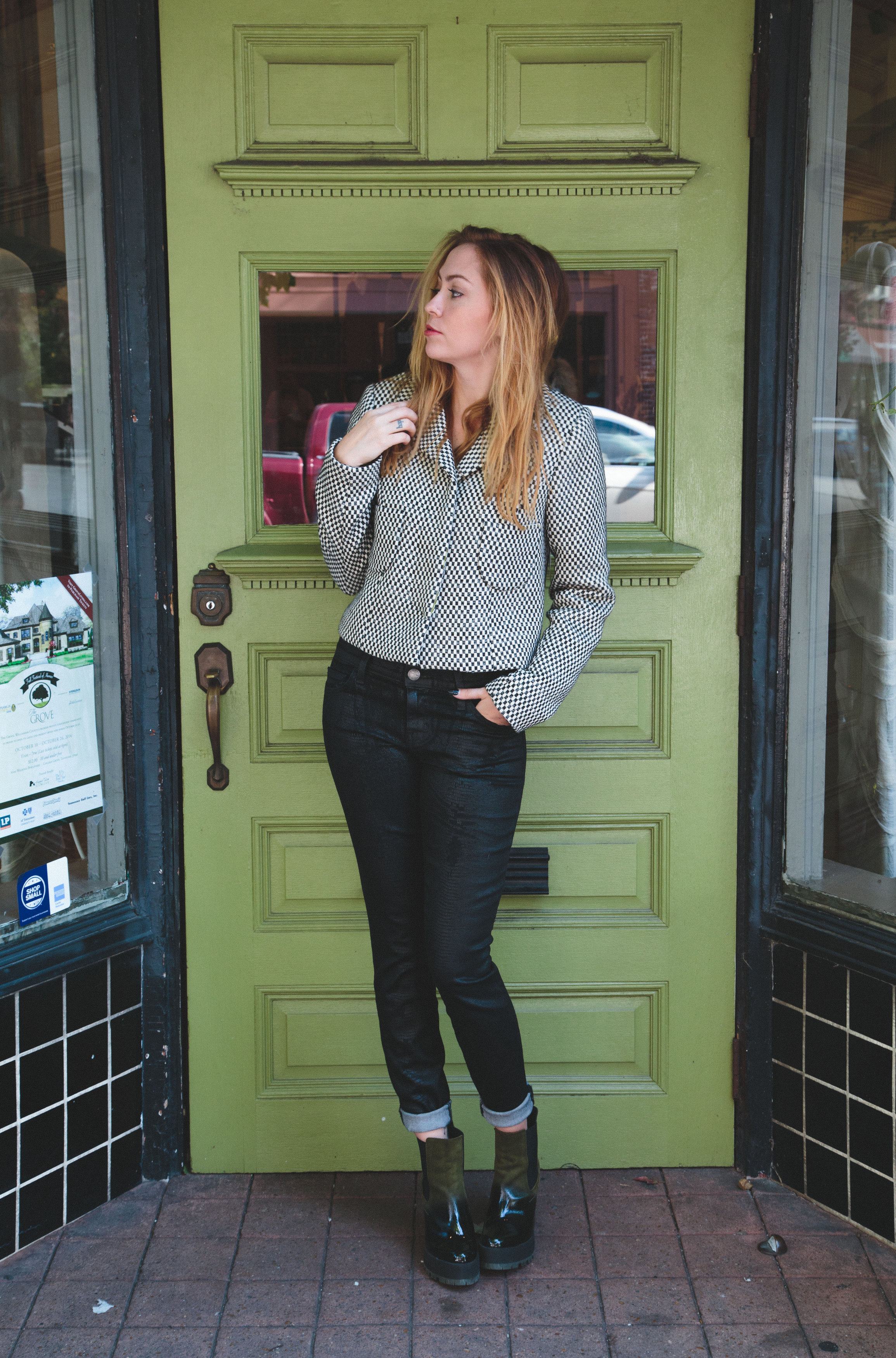 Jacket - Smythe |  Jeans - Current Elliott  |  Shoes - Miista  ||  photos by Susannah Brittany