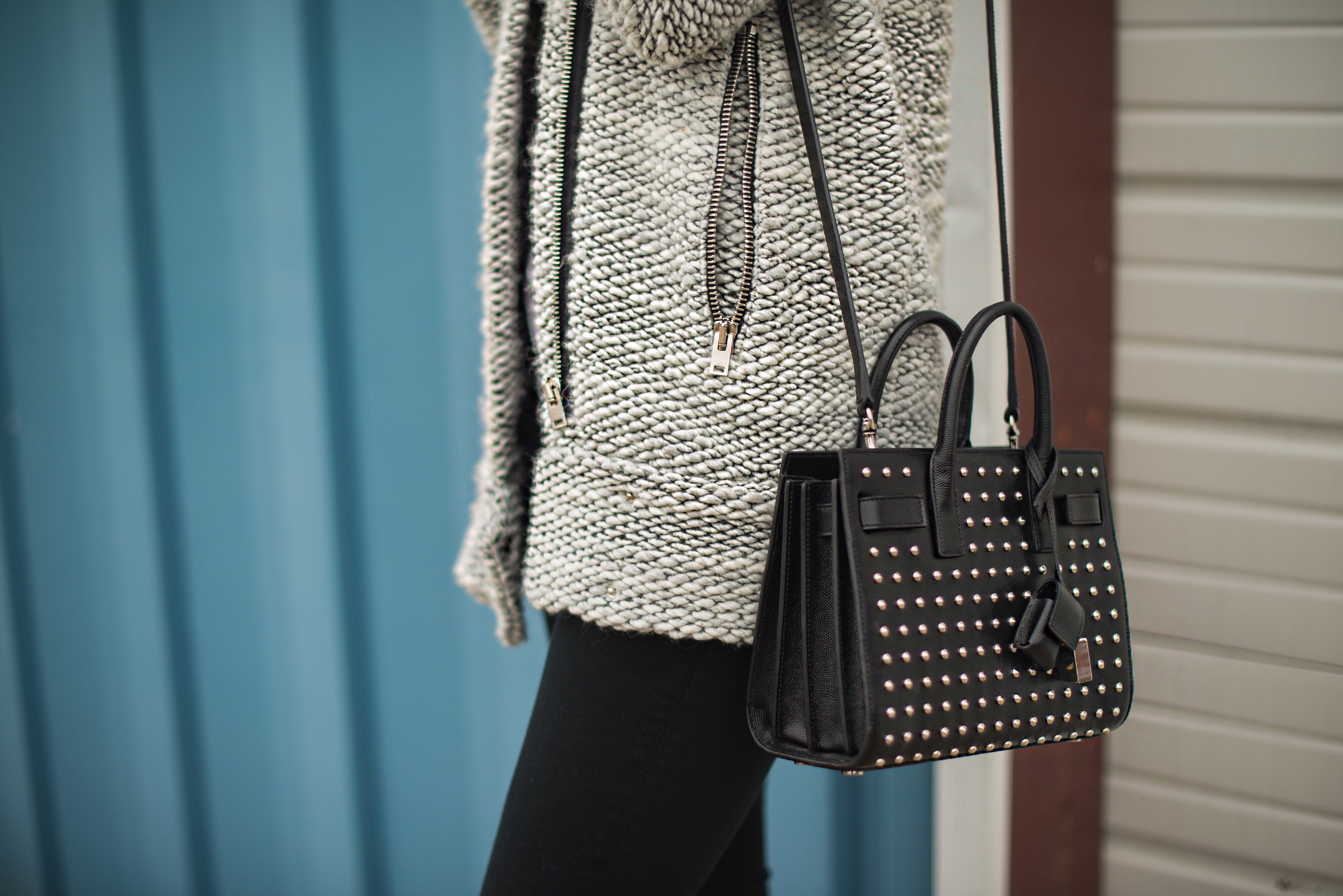 Sweater - IRO     Jeans - Topshop     Bag - Saint Laurent     Boots - Miista      photos by Blythe Thomas