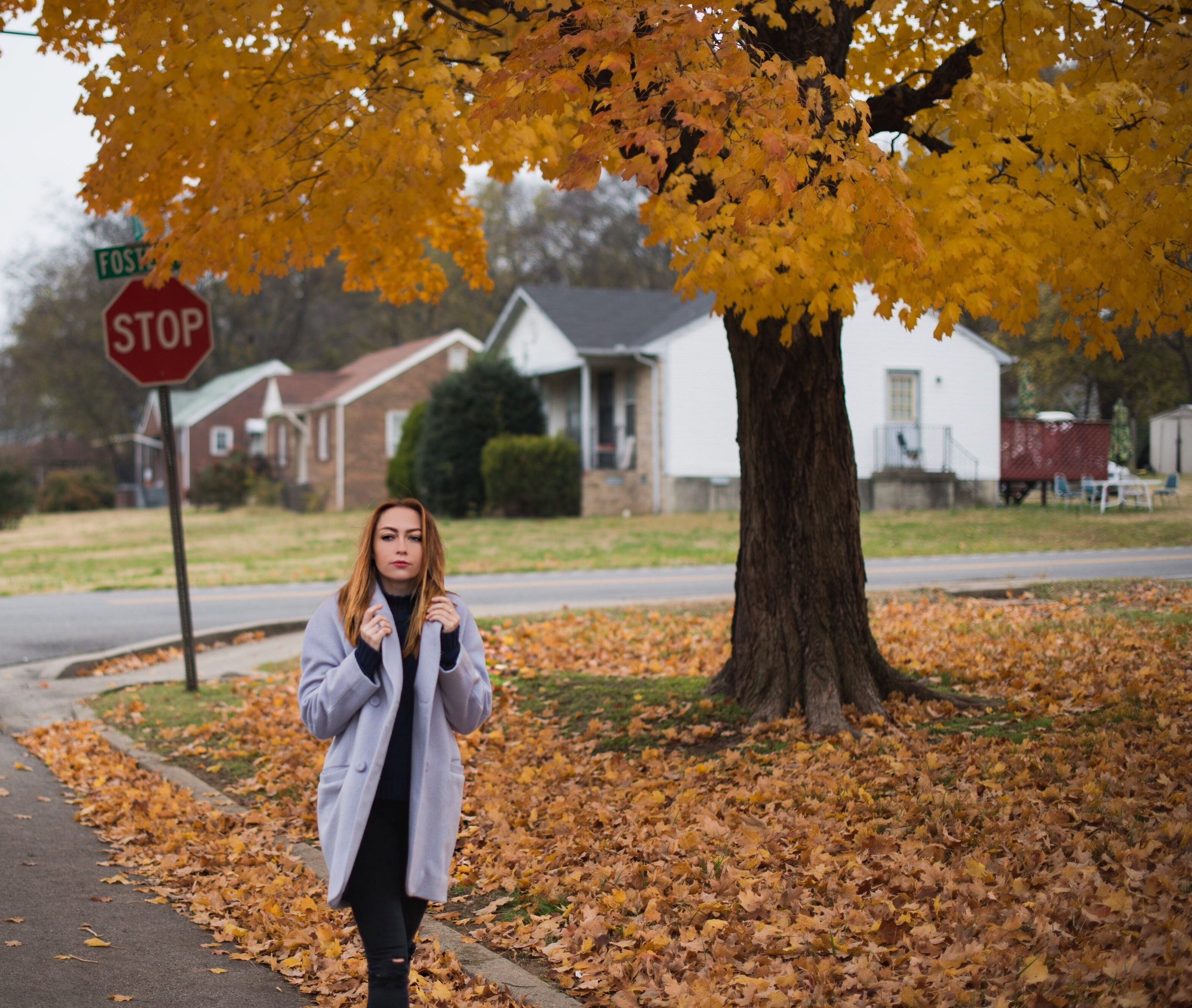 Coat - Reformation  | Sweater - Style Stalker |  Jeans - Topshop  |  Shoes - Enzo Angiolini  ||  photos by Blythe Thomas