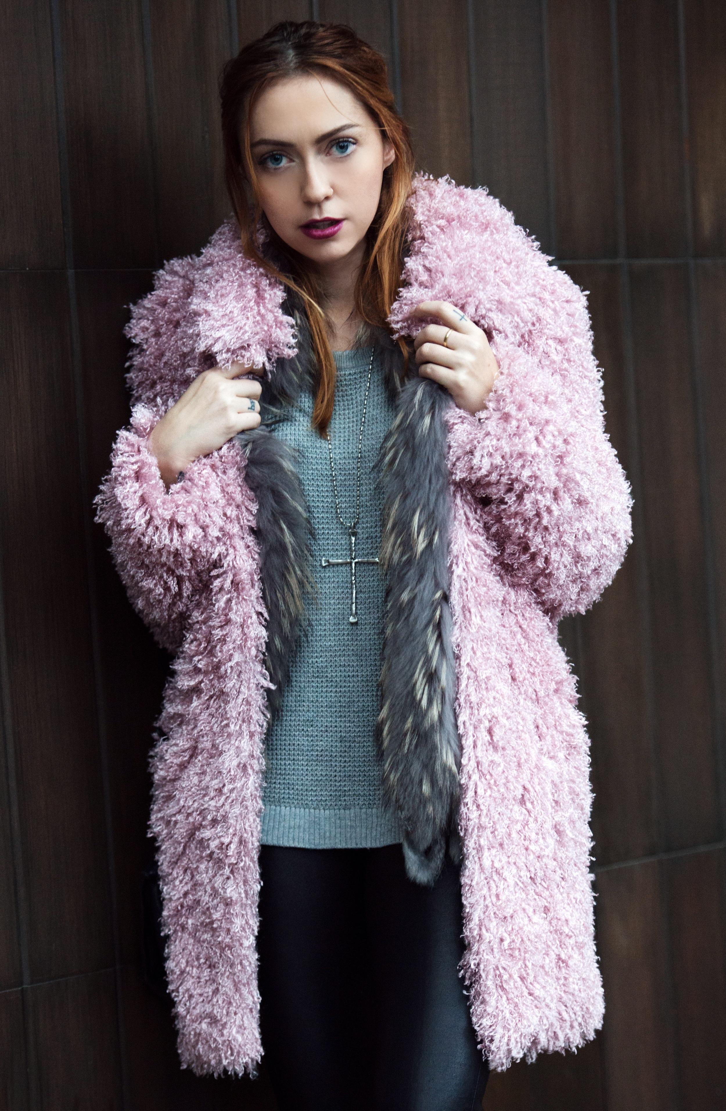 Coat - UnReal Fur  | Sweater - Rag & Bone | Vest - vintage | Pants - Topshop | Shoes - Acne Studios | Bag - Givenchy||  photos by Piper Rastello