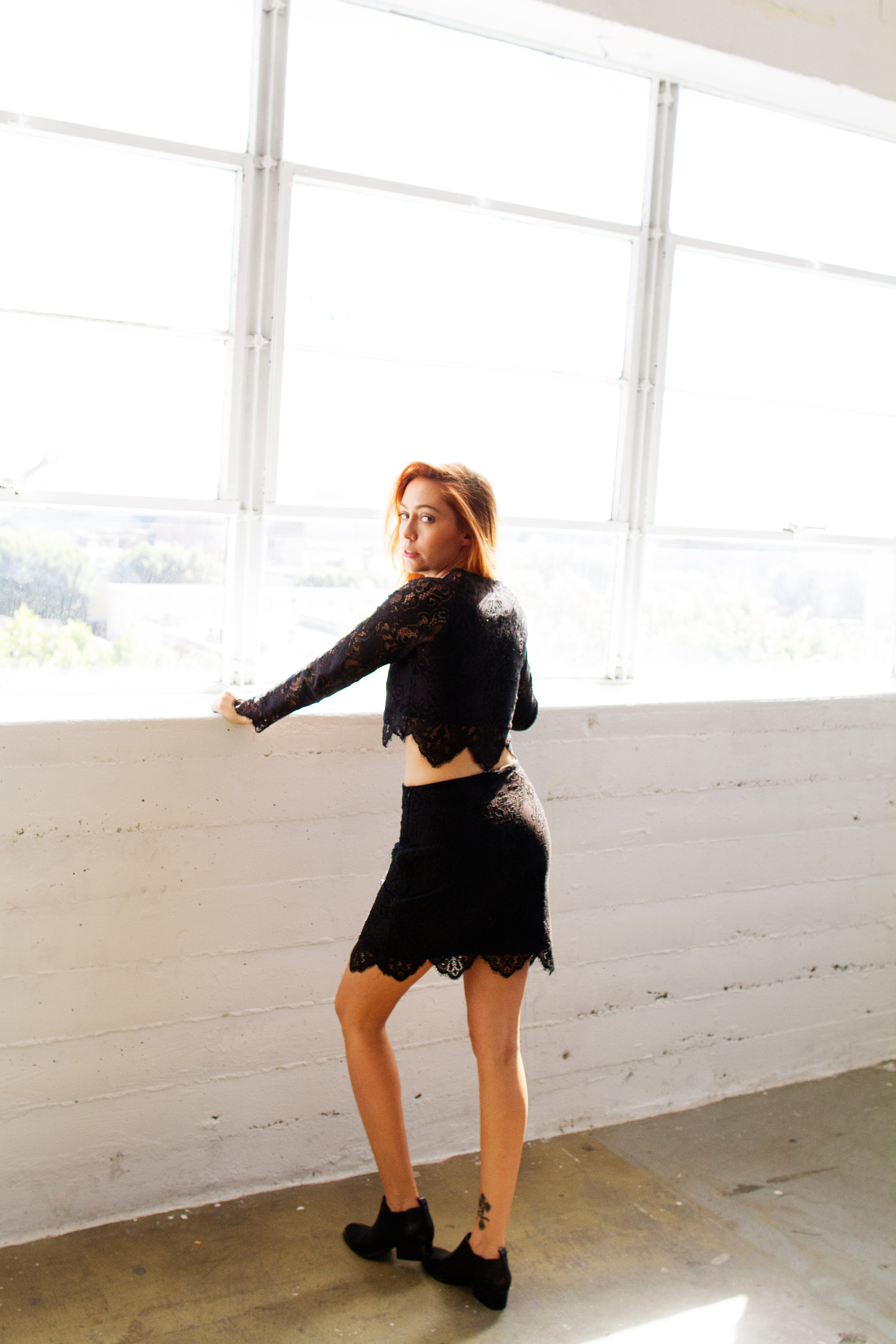 Top + Skirt -  For Love & Lemons  || Shoes -  Enzo Angiolini  ||  photos by Oliver Endah l, glam by  Stella Kae , styling collaboration with  Rad + Refined