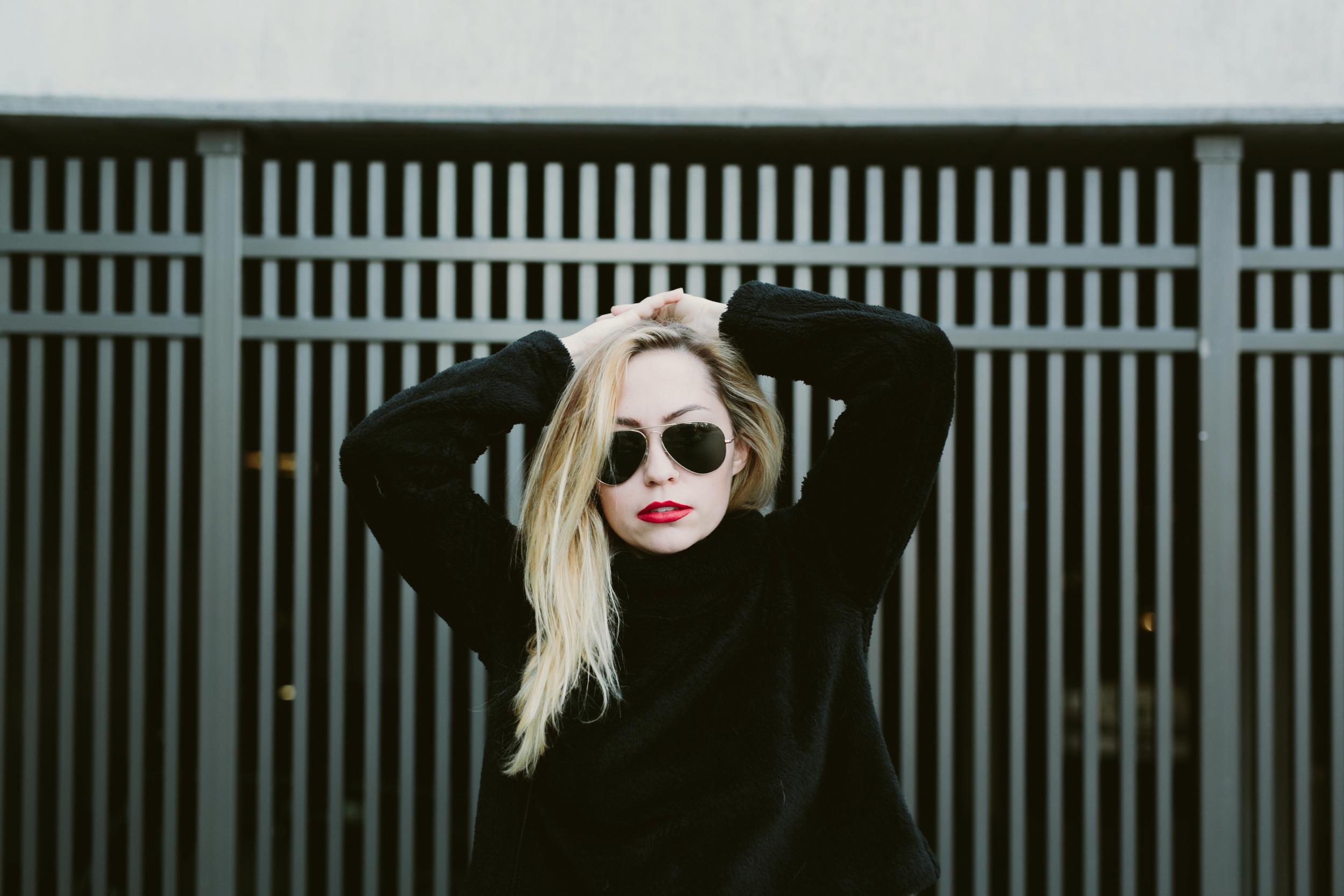 Sweatshirt - Reformation | Shorts - The Kooples | Shoes - Senso | Bag - Givenchy || photos by Amber Ulmer