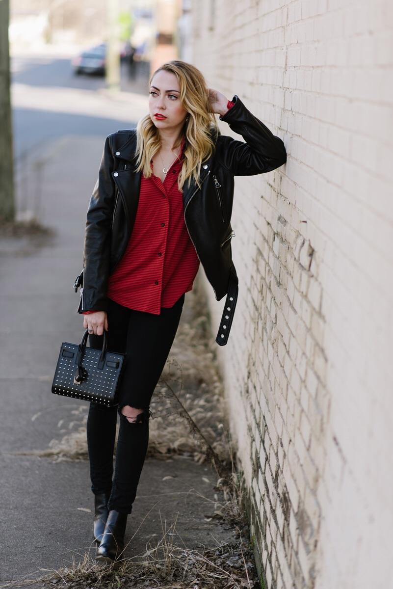 Jacket - CChrist | Shirt - Maison Du Soir | Jeans - TopShop | Boots - Senso | Bag - Saint Laurent || photos by  Will Vastine  - glam by  Jess Reed
