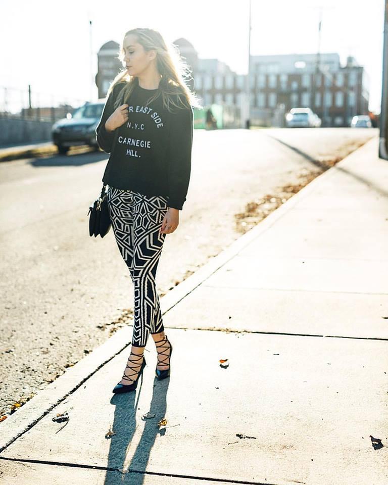 Top + Pants - TopShop   Shoes - Saint Laurent   Bag - Mackage    photo by Tausha Dickinson
