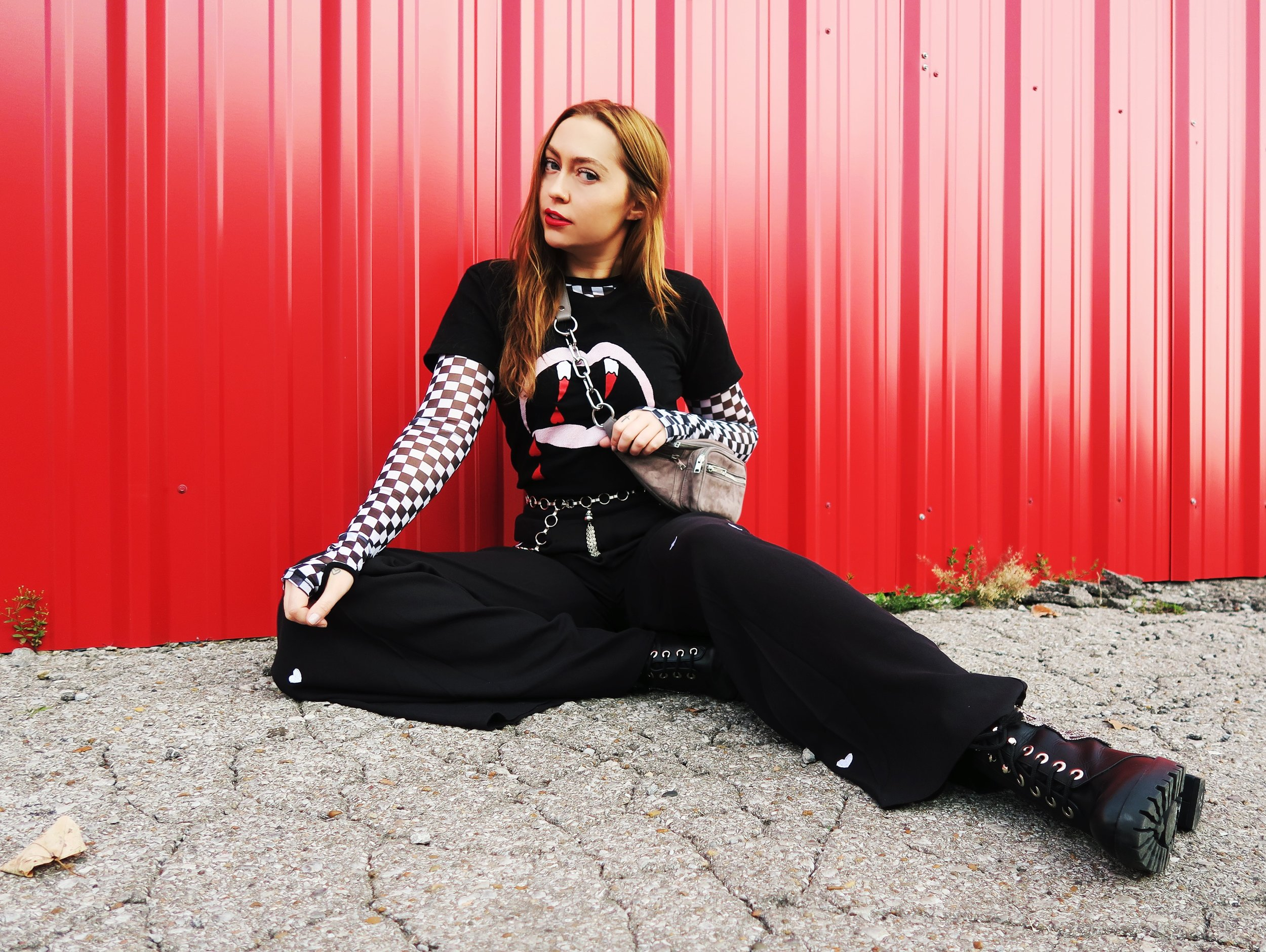 L/S Top - Dollskill | Tee - YSL | Pants - Wildfox | Boots - Gewebe | Bag - Alexander Wang