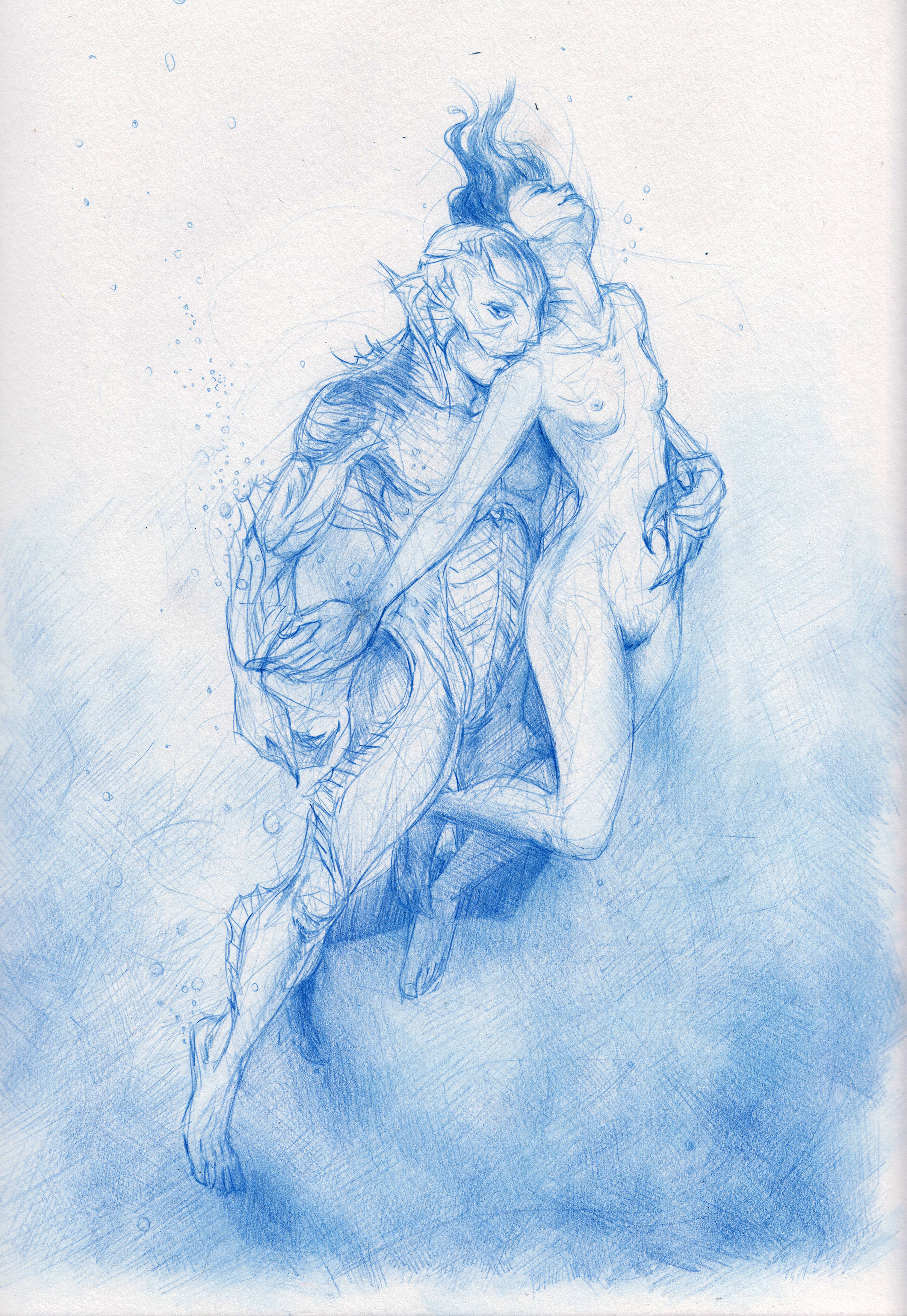 Underwater Lovers (Homage to Guillermo del Toro's 'The Shape of Water')
